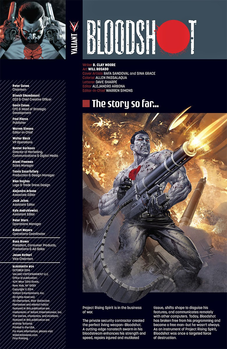 Valiant Previews: BLOODSHOT #24