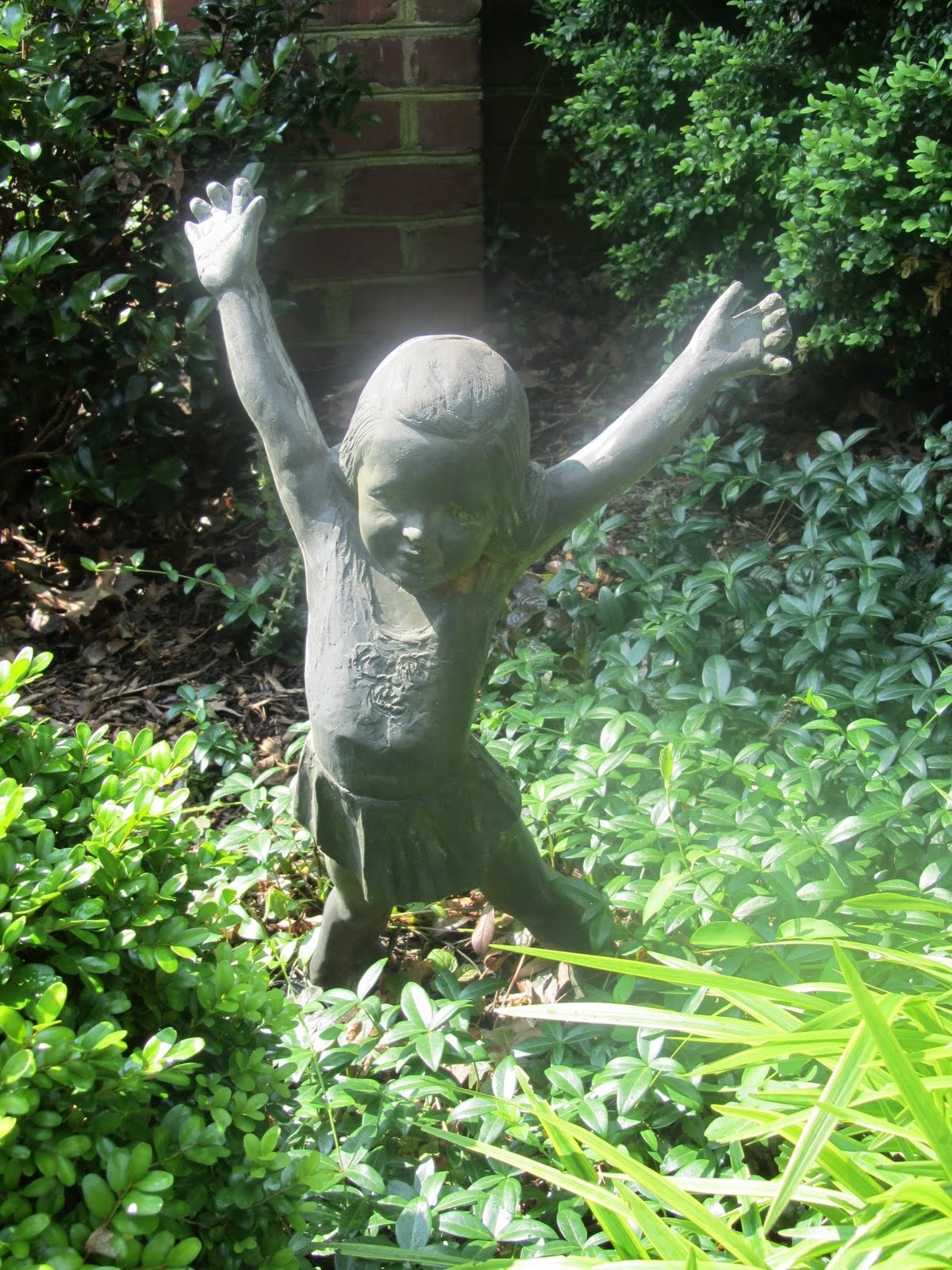 My Mom Has This Little Girl Statue In The Garden And She Says It Reminds  Her Of Me. I Am An Only Child So.....well, There You Go.