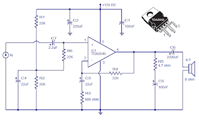 car stereo amplifier using tda 2040 ~ raul\u0027s diagrams collection