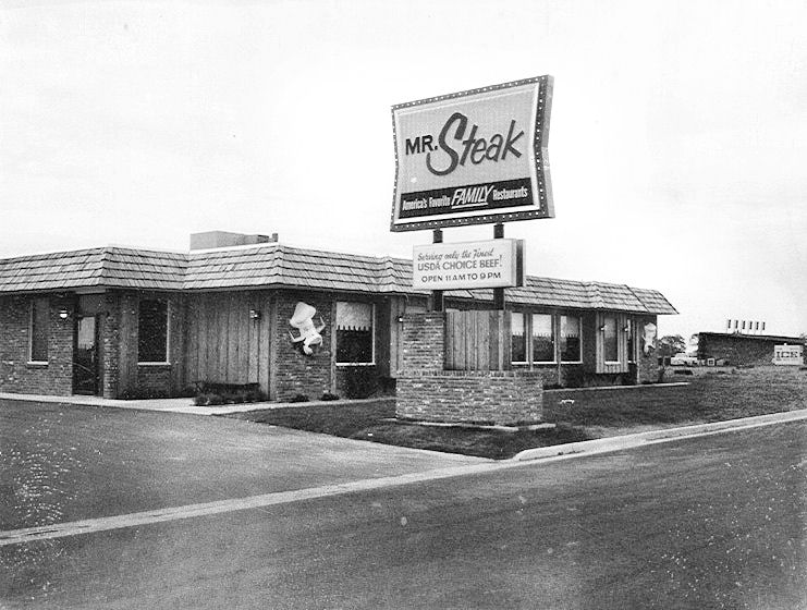 Outside Of A Typical Mr Steak Restaurant In The Late 1960 S