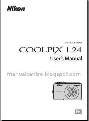 Nikon coolpix L24 Manual Cover