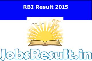 RBI Result 2015