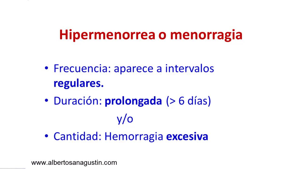 hipermenorrea, menorragia