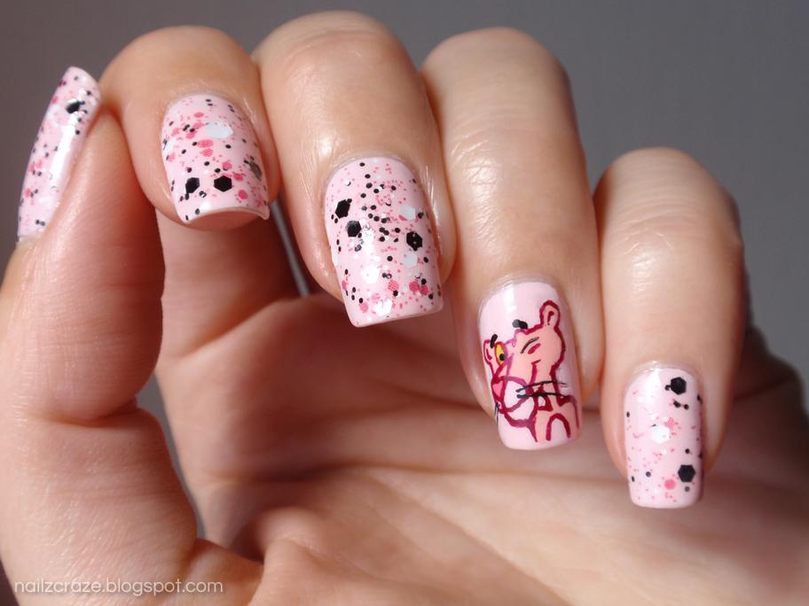 The Pink Panther Nail Art - The Pink Panther Nail Art - Nailz Craze