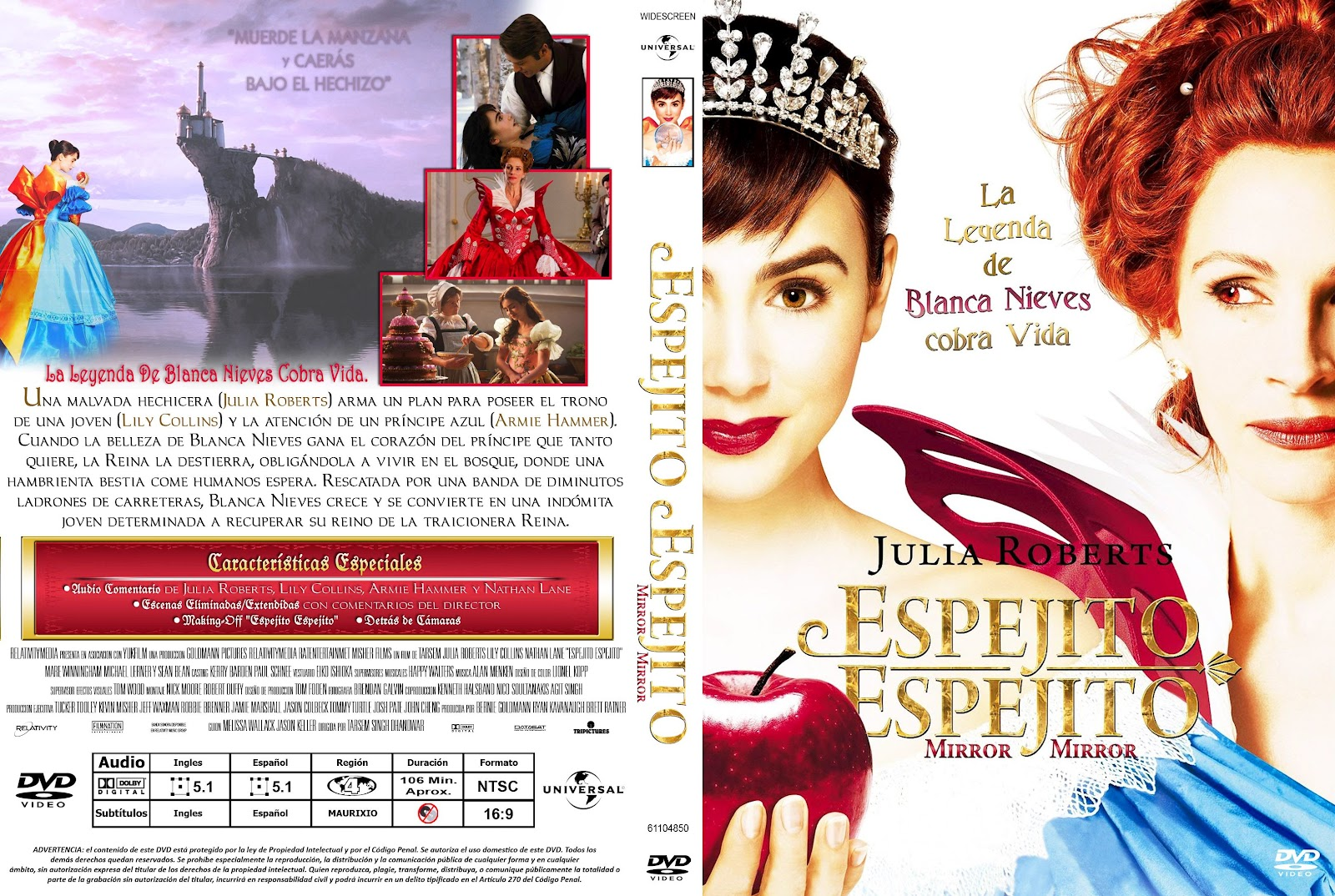Peliculas dvd full espejito espejito mirror mirror for Espejito espejito