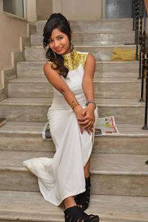Actress Ishita Latest Stills in White Long Dress at Ippatlo Ramudila Seethala Evaruntaarandi Babu movie Audio Launch  07.jpg