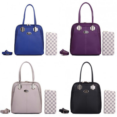 HANDBAG GRED AAA - BLACK , BLUE , GREY , PURPLE