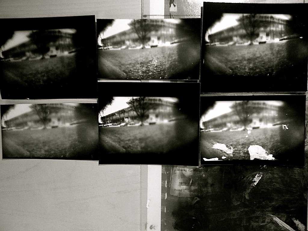 Above Images On The Left Are Attempts At Making Image Positive And Right Original Pinhole Camera