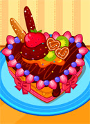 Украшаем торт Сердце - Онлайн игра для девочек