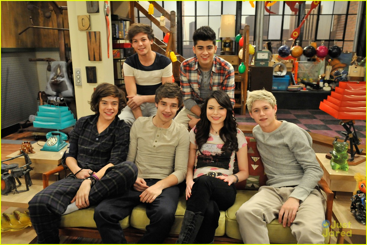 One Direction: Nuevas Fotos y Video en su paso por ICarly!