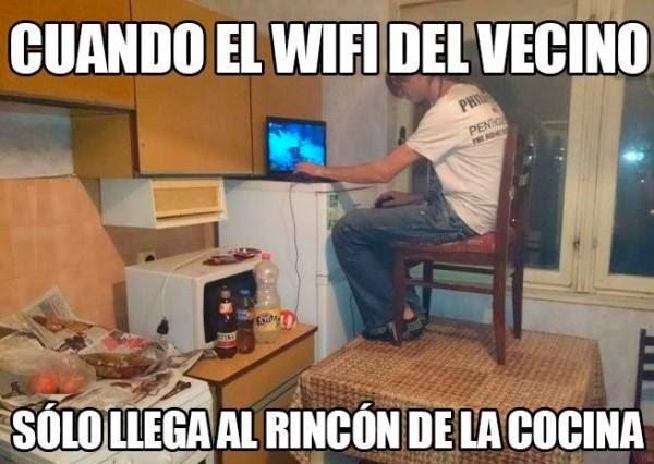 Usando el wifi del vecino