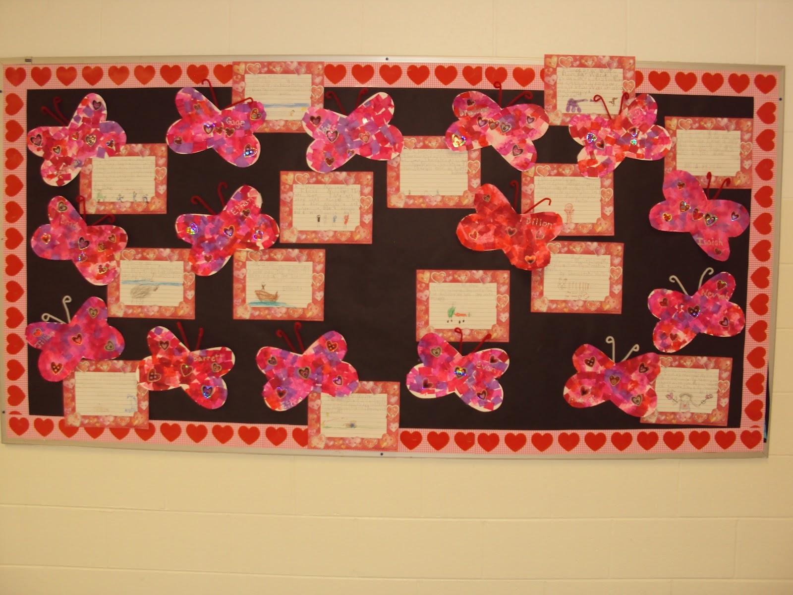 mrs. seymour's super stars: valentines day bulletin board idea