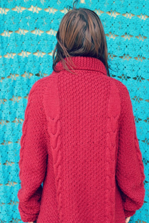 jersey vintage rojo de cuello alto