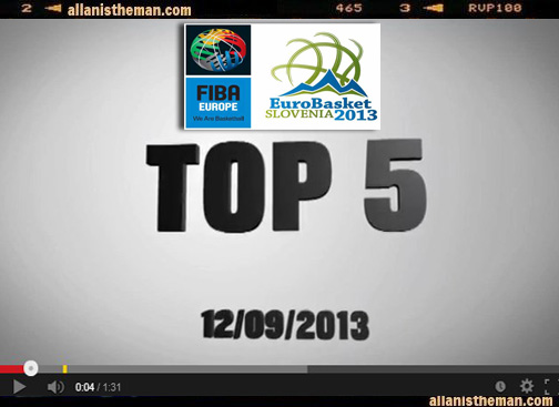 EuroBasket 2013: Top 5 plays September 12 (VIDEO)
