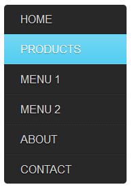 css simple verticle menu bar