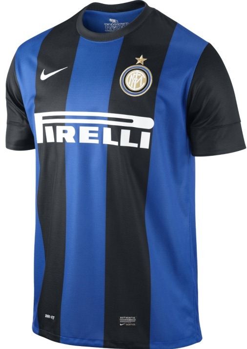 uniforme / camiseta Inter de Milán 2012-2013 Nike azul y negra local