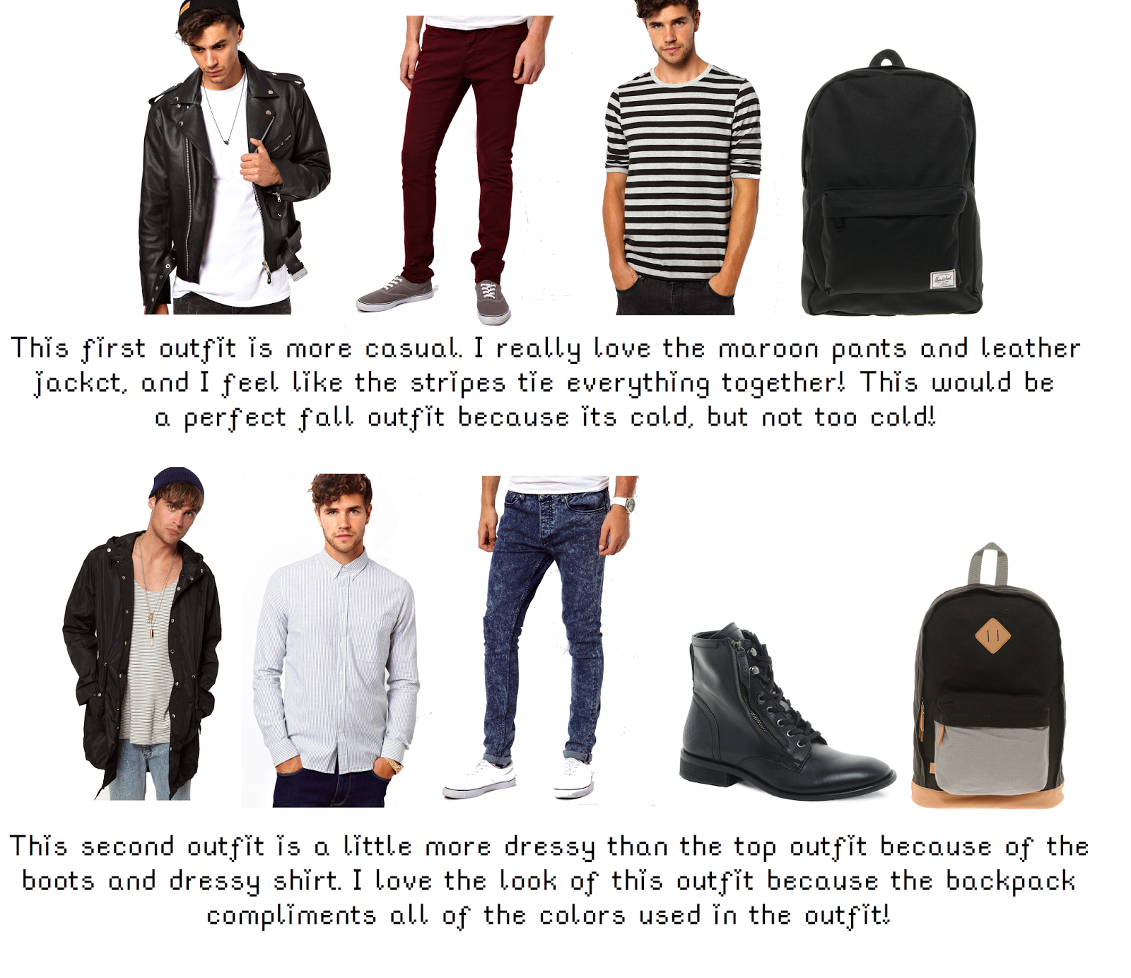 Back to school outfit ideas for men ♡