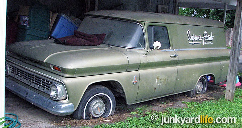 Article on junkyard life about an time capsule 39 63 panel the 1947 present chevrolet gmc