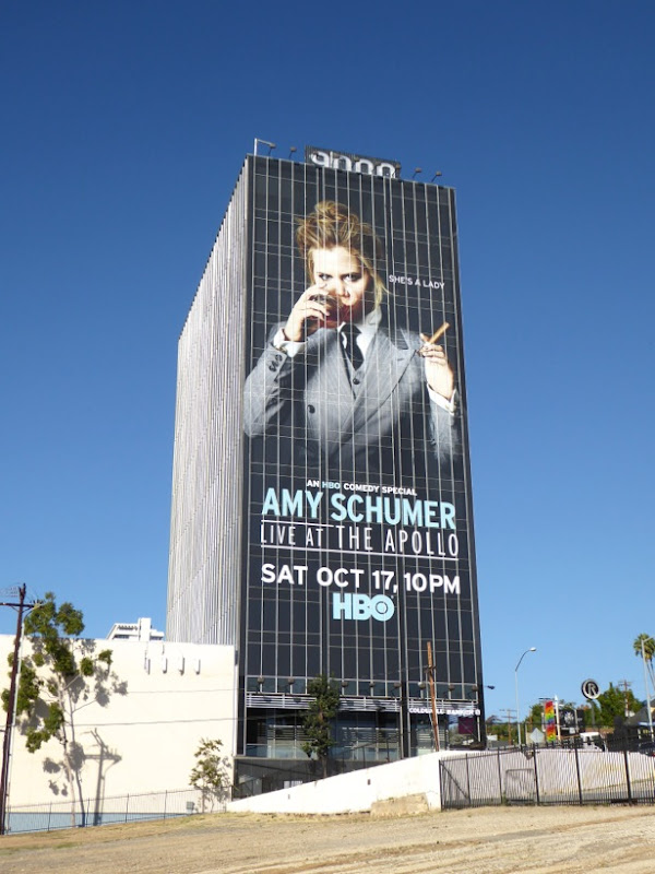 Giant Amy Schumer Live at the Apollo billboard