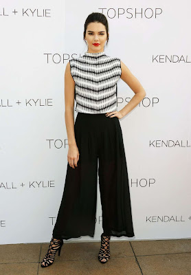 Kendall and Kylie Jenner go glamorous for Topshop collection launch in LA
