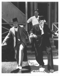 Laurel and Hardy w/ Hal Roach