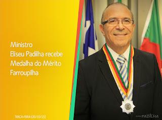 Ministro Eliseu Padilha recebe Medalha do Mérito Farroupilha - Leia o discurso na íntegra