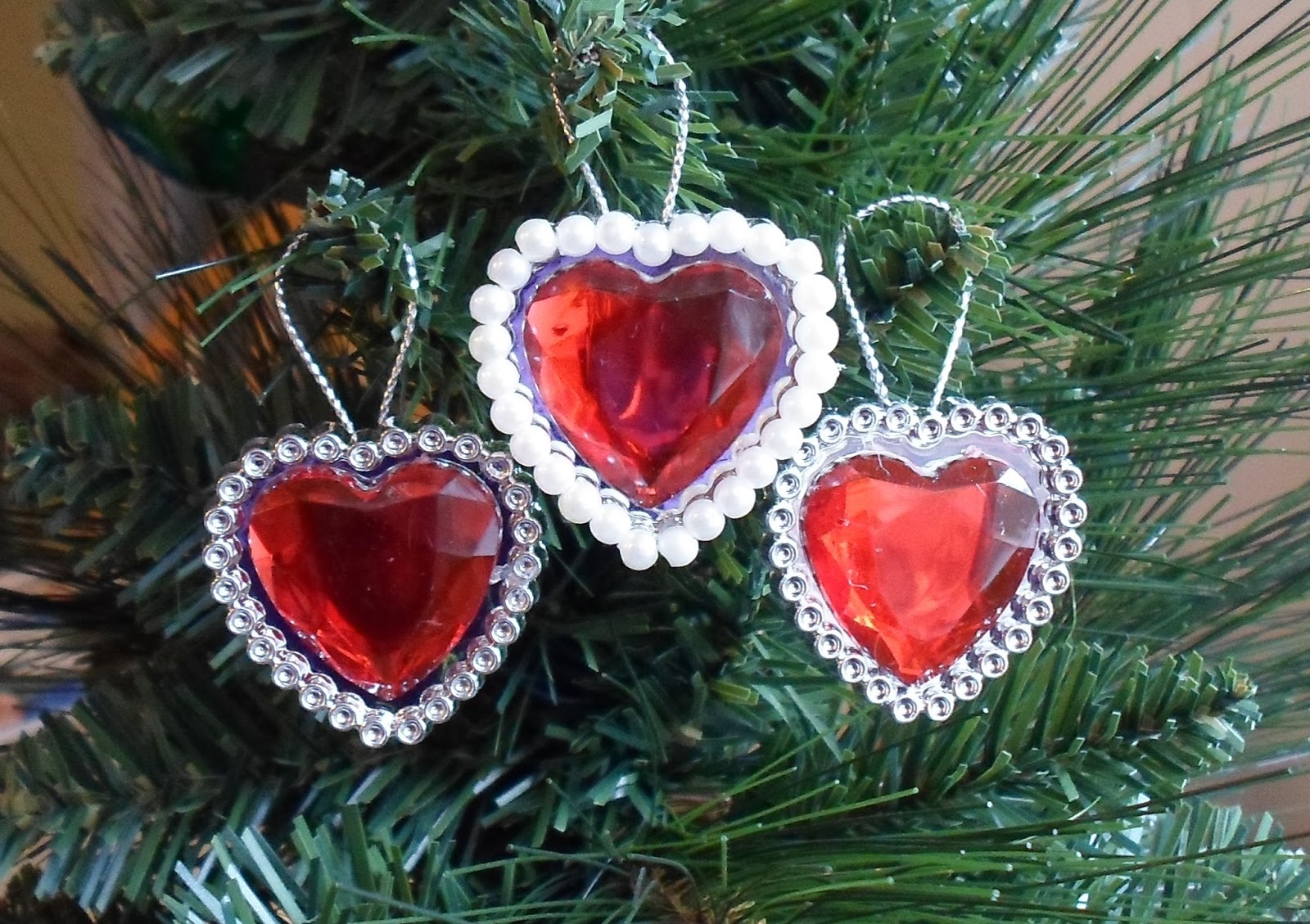 Valentine Heart Ornaments From Dollar Tree Rings U0026 2015 Valentineu0027s Tree