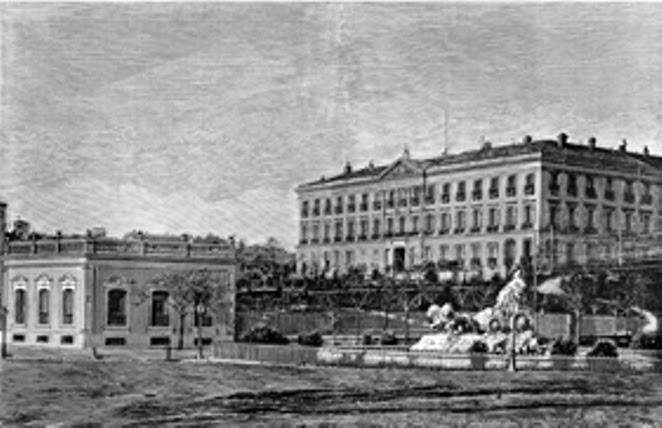 1880 junto a Cibeles