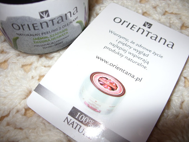 Recenzja: Naturalny peeling z olejkami: Jaśmin, Szafran i Zielona Herbata,Orientana