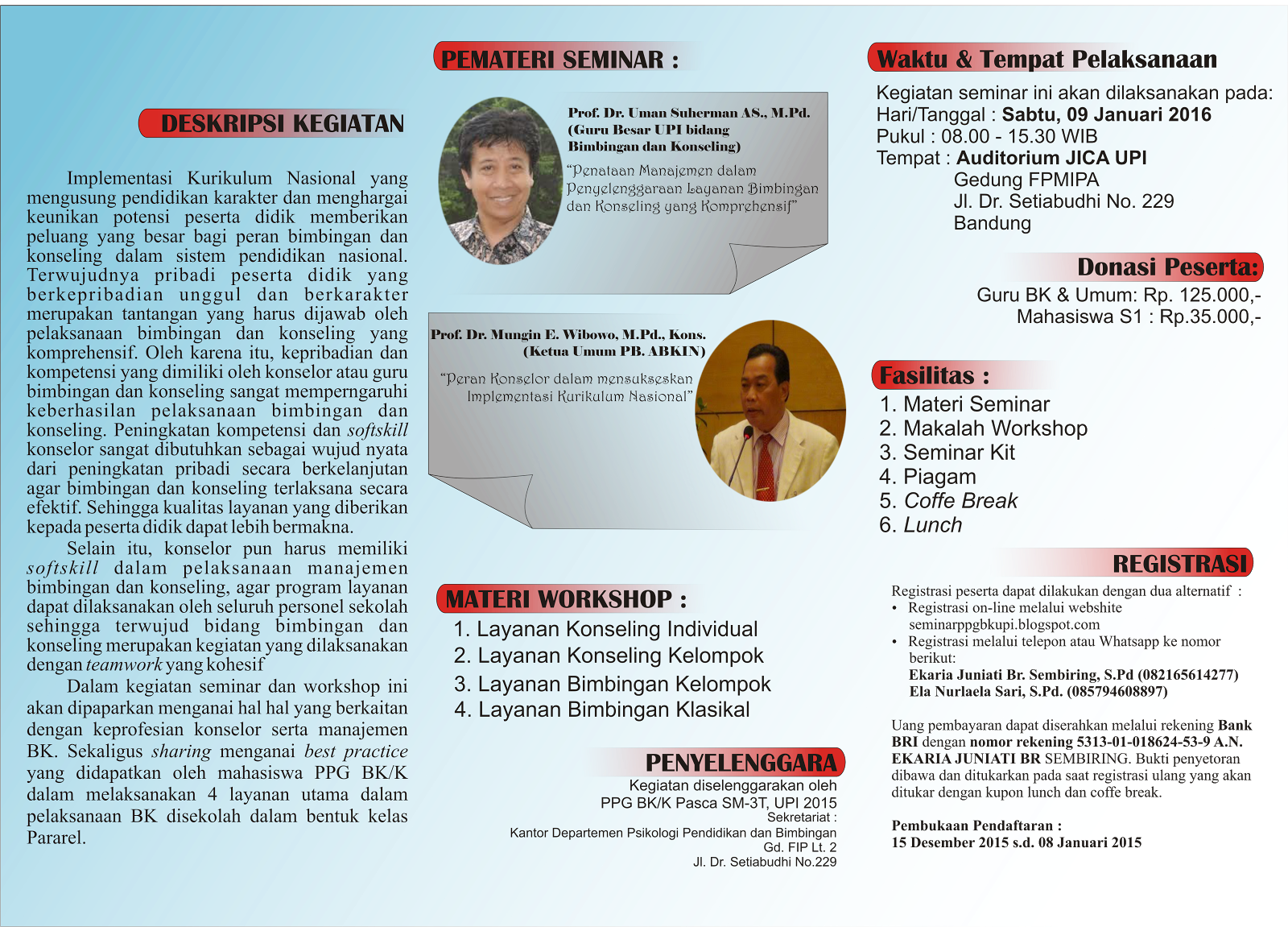 Seminar dan Workshop BK