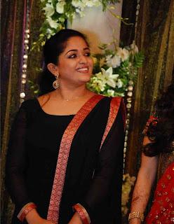kavya madhavan at prithviraj wedding reception
