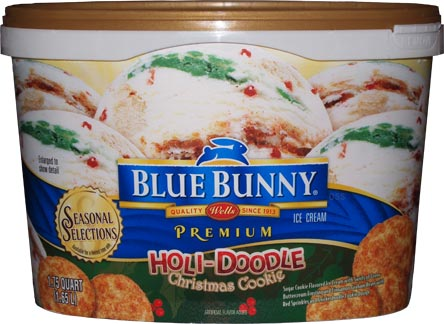 On second scoop ice cream reviews blue bunny holi doodle for Christmas cookie ice cream blue bell