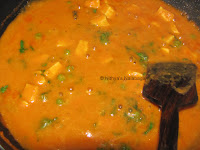 Instructions for Mattar Paneer Recipe