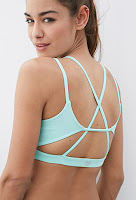 Style Athletics Forever 21 Cute Stylish Workout Clothes Unique Lululemon mint sports bra