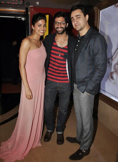 Imran, Akshay and Parvathy Omanakkuttan at PIZZA 3D movie screening
