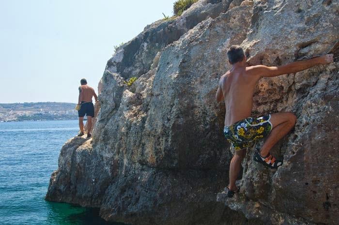 Malta rock climbing