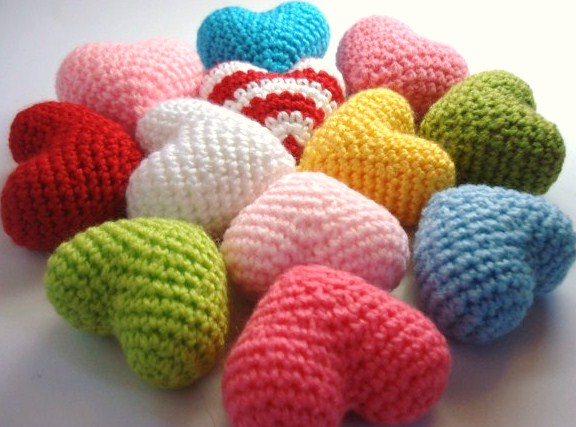 Amigurumi Heart Crochet Pattern : AllSoCute Amigurumis: Amigurumi Crocheted Hearts / Kalpler