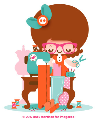 sewing-kawaii-aneu-martinez-illustration-imagezoo