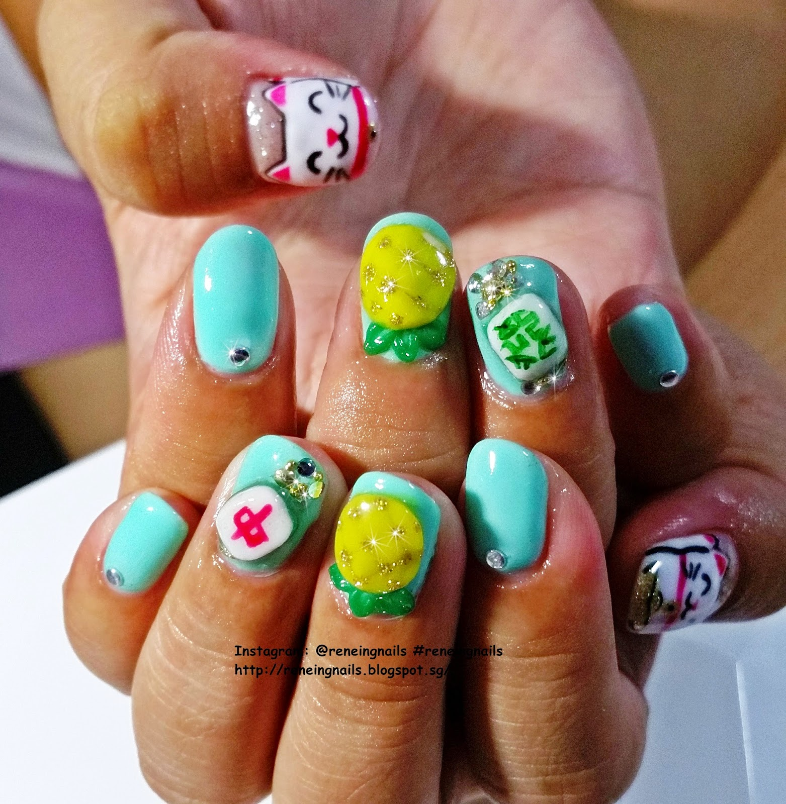 Reneing.Nails: N31365: Chinese New Year Nails 2015 for Mindy!