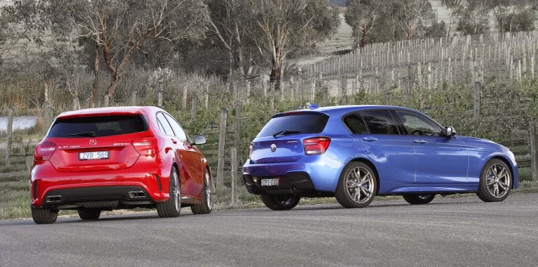 BMW M135i Galleries VS Mercedes-Benz A45 AMG Galleries