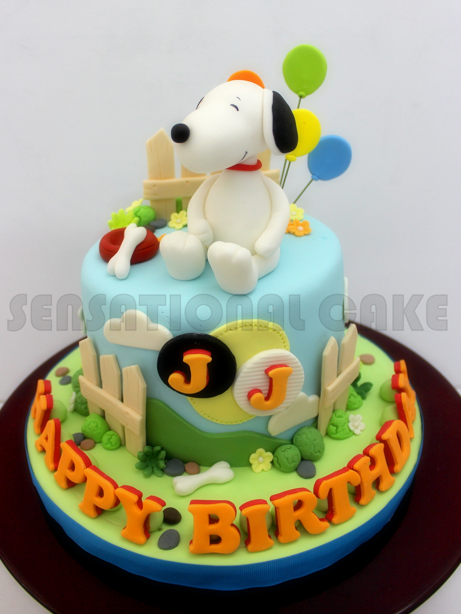 Birthday cakes for dogs in singapore : The sensational cakes snoopy dog sugar crafted art