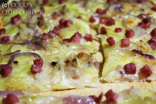 Tarte with Onions and Patatoes