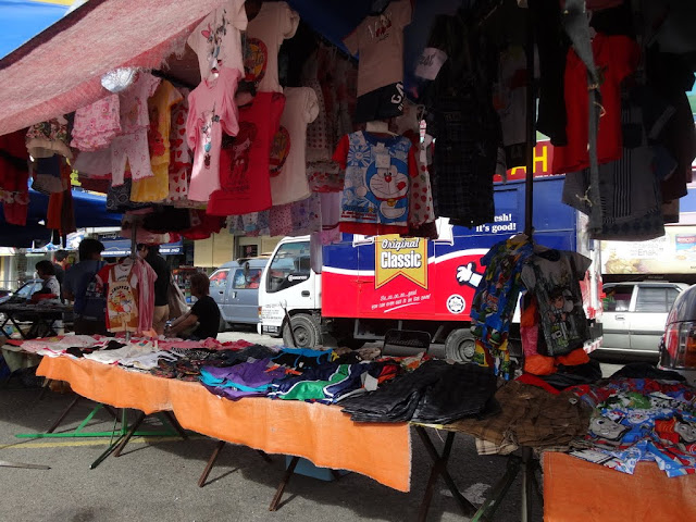 Children's clothing at the morning market in Malaysia