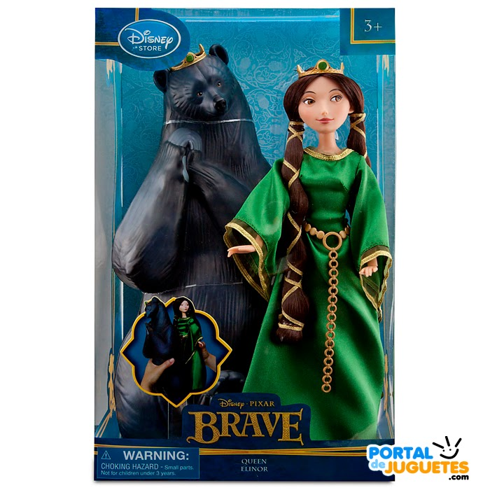 muñeca reina elinor brave set transformacion caja