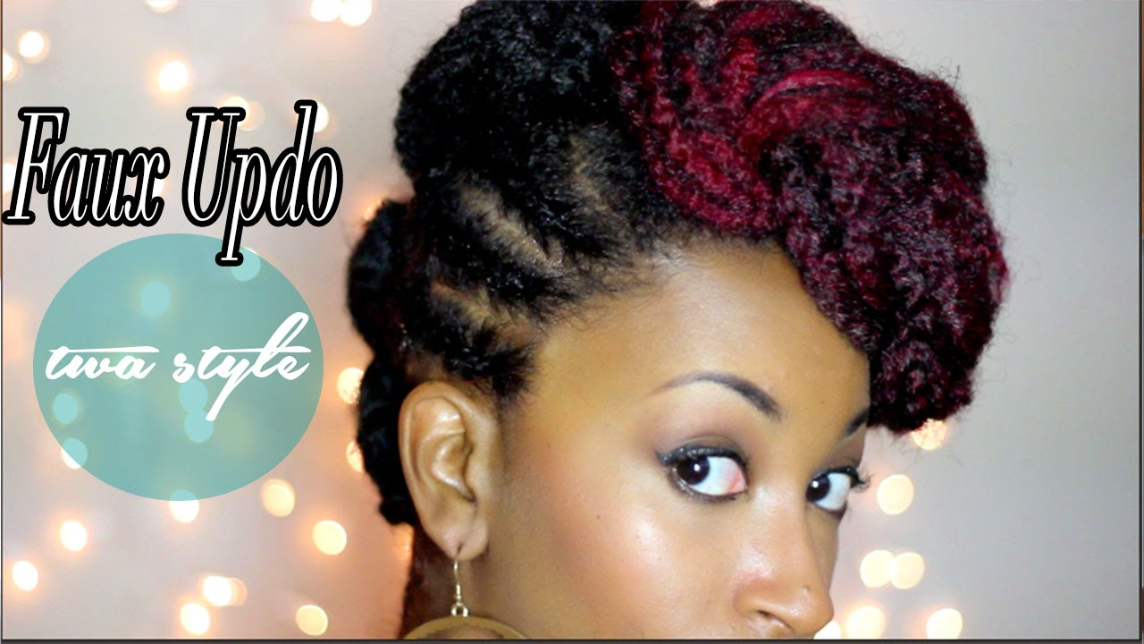 Faux Updo Tutorial For Short TWA Natural Hair