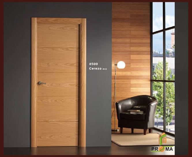 Puerta 8500 en cerezo eco de la serie vega puertas proma for Puerta 8500 proma
