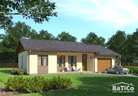 foto de modelo de casa de un piso diseño normal con garaje para un carro o auto