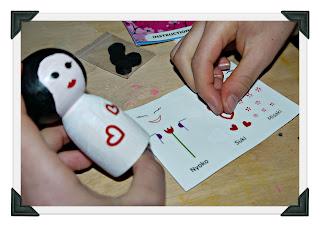 Japanese dolls, kokeshi, craft set