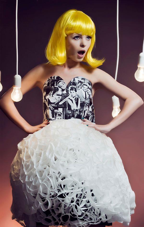 Paper fashion dresses | Futuristic style