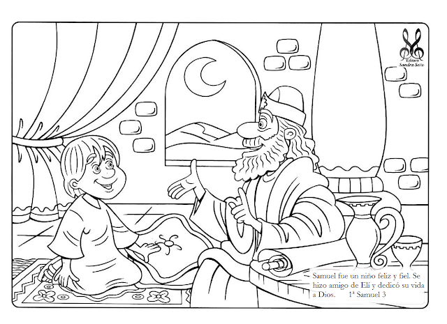 Holiday Coloring Pages God Speaks To Samuel Coloring Page Free
